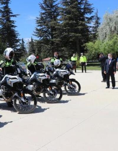 Eğitimlerini tamamlayan motosikletli şahinler göreve başladı