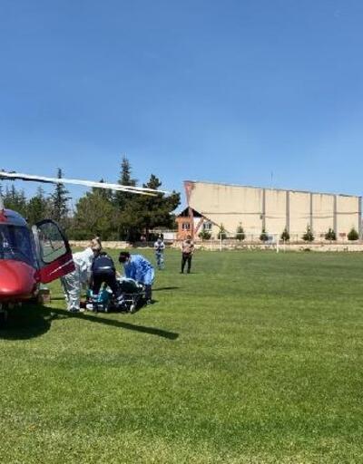 Koronavirüs hastası ambulans helikopterle sevk edildi