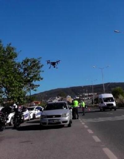 Muğla'da, trafik ekiplerinden drone destekli denetim