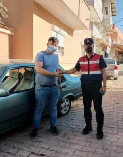 Manisa'da, çalınan otomobil jandarma ekiplerince bulundu