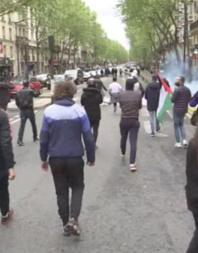Londra ve Paris'te Filistin gösterileri