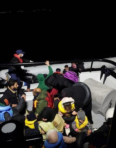 İzmir'de 103 kaçak göçmen kurtarıldı