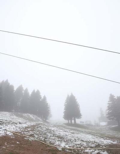 Uludağ'a haziran karı