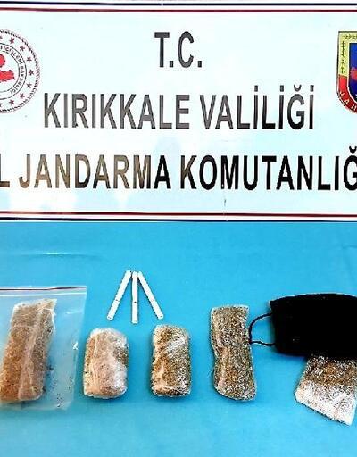 Kırıkkale'de otobüste uyuşturucu ile yakalanan yolcuya gözaltı