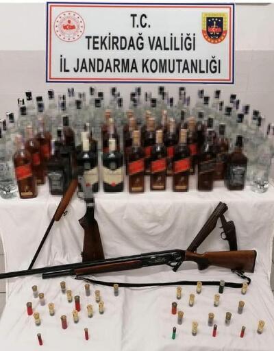 Kapaklı'da kaçak içki operasyonu