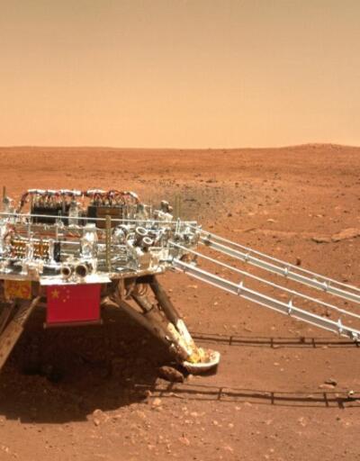 Çin'in uzay aracı 'Kızıl Gezegen'den yeni fotoğraflar gönderdi