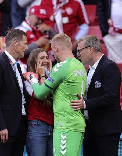 Son dakika... Eriksen'in eşi Sabrina Kvist Jensen gözyaşları içinde iyi haberi bekledi