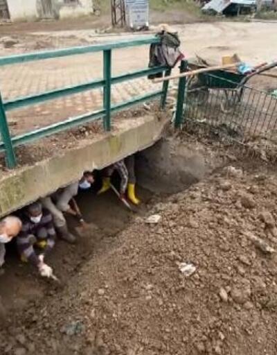 Karapınar köyünde sel sonrası iyileştirme çalışmaları