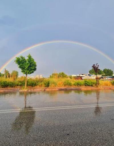 Yağmur sonrası görsel şölen