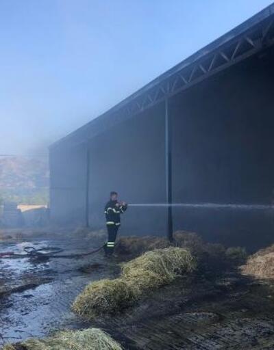 Ağlasun'da çiftlik yangını