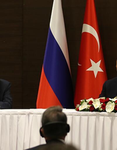 Çavuşoğlu ve Lavrov'dan ortak basın toplantısı