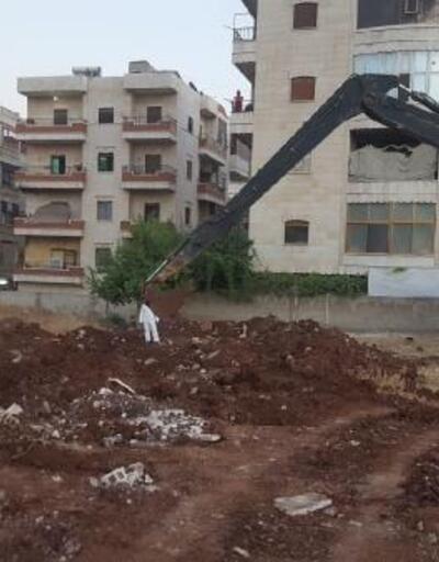 Afrin'deki toplu mezarda kazı çalışması tamamlandı