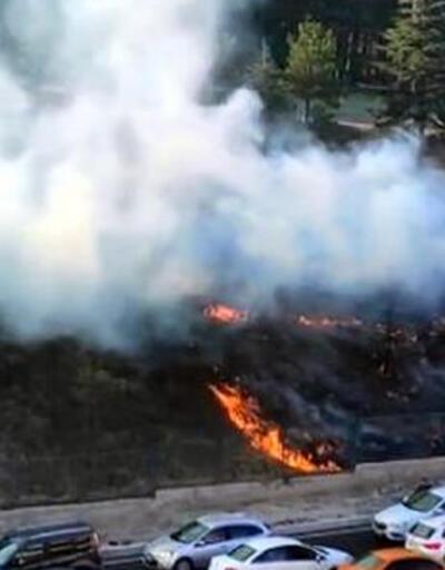 Askeriyedeki ormanlık alanı ateşe verdi! Suçüstü yakalandı