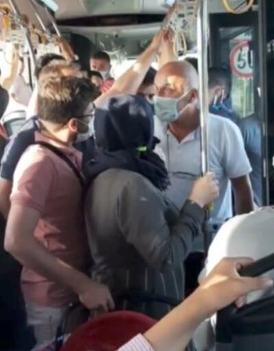 Otobüste maskeni tak tartışması
