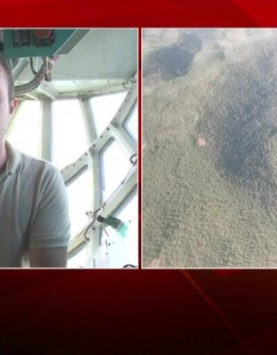 Milas'a havadan müdahale yeniden başladı... CNN TÜRK ekibi söndürme uçağında