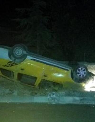 Taksinin çarptığı çiftten biri öldü, diğeri ağır yaralı