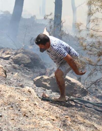 Bodrum'daki orman yangınını söndürmek için herkes seferber oldu