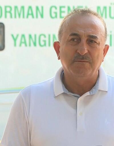 Antalya'da alevlerle mücadele... Bakan Çavuşoğlu'ndan önemli açıklamalar