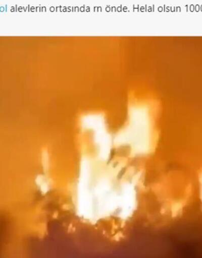 İbrahim Çelikkol, yangın söndürme çalışmalarına destek verdi