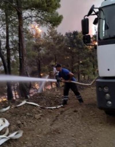 Osmangazi Belediyesi ekipleri yangın bölgesinde