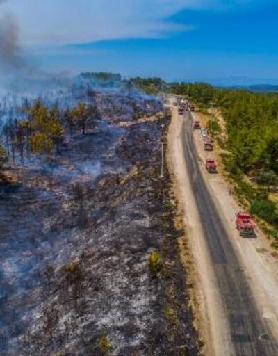 Turizmciyi yangın vurdu
