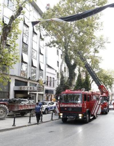 Son dakika! İstanbul Ortaköy'de otel yangını