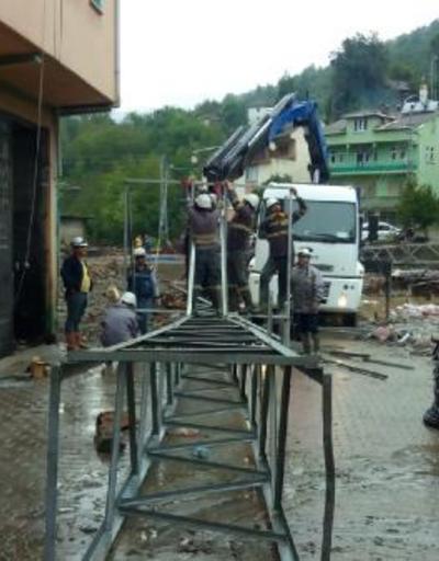Bakanlık: Sel bölgesinde elektrik veriliyor