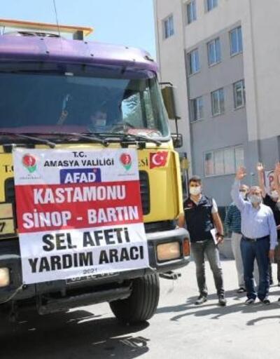 Amasya'dan selzedelere 1 TIR su desteği