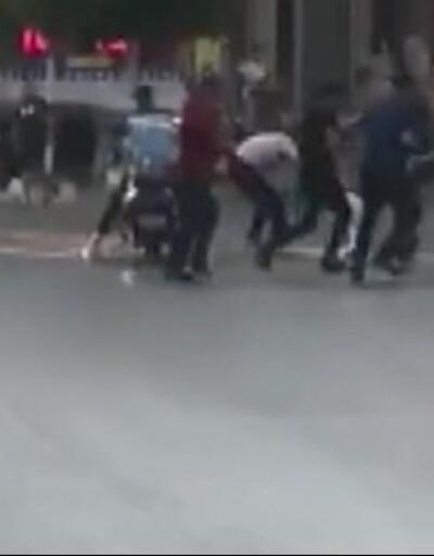 Sokak savaş alanına döndü