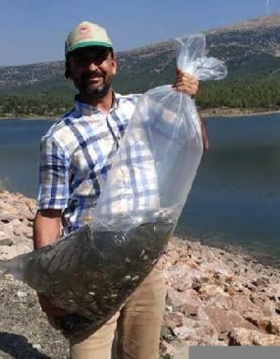 Gaziantep'te göletlere 70 bin aynalı sazan yavrusu bırakıldı