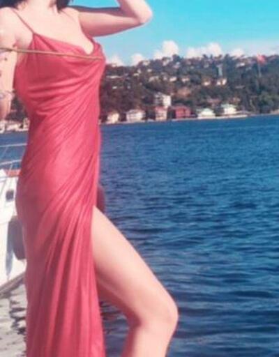 Merve Boluğur, kırmızı elbisesiyle özgürlük pozu verdi