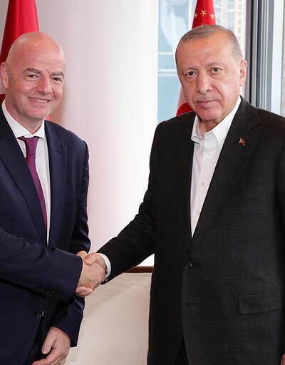 Erdoğan, FİFA Başkanı'nı kabul etti