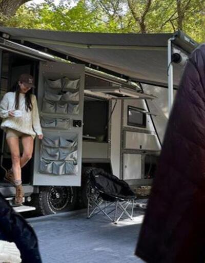 300 bin TL'lik karavanlarıyla tatildeler
