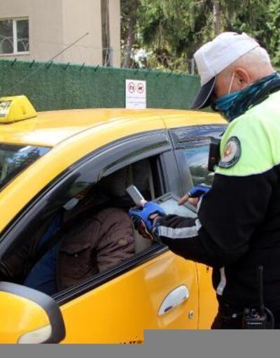Bolu'da, kurallara uymayan taksicilere ceza kesildi