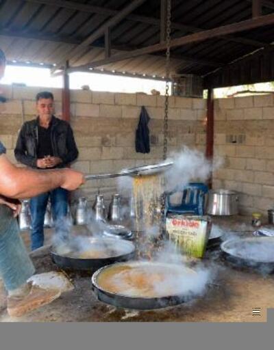 Siirt'te bağ bozumunun ardından kazanlar, pekmez için kaynıyor
