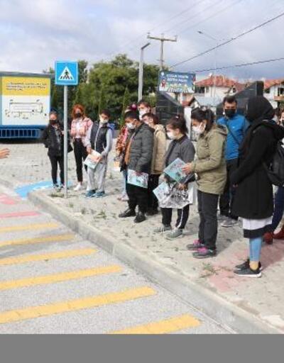 Bolu'da zihinsel engelli öğrencilere trafik eğitimi