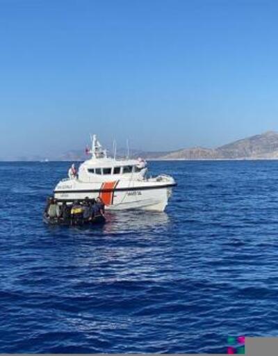 Marmaris'te sürat motoru ve can salında 40 kaçak göçmen kurtarıldı