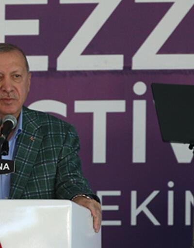 Cumhurbaşkanı Erdoğan, 5. Uluslararası Adana Lezzet Festivali açılışında konuştu