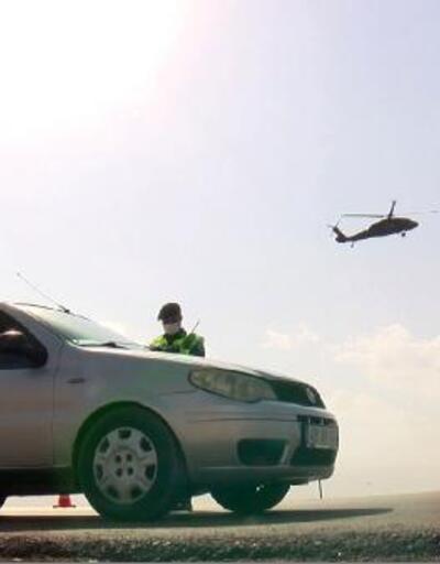 Jandarmadan helikopter ve dron destekli trafik denetimi