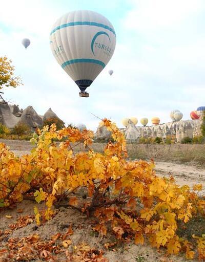 Kapadokya sonbahar renklerine büründü