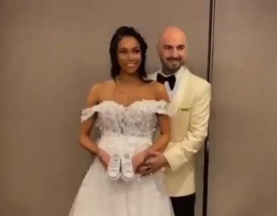 Soner Sarıkabadayı, 8.5 aylık hamile sevgilisi Camelo Lopez ile evlendi
