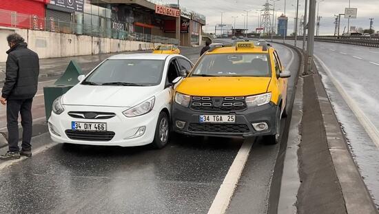 İstanbul Esenyurt'ta kaza: Boş yolu paylaşamayıp kaza yaptılar!
