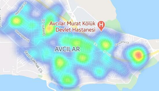 SON DAKİKA: İstanbul'un ilçe ilçe koronavirüs haritası