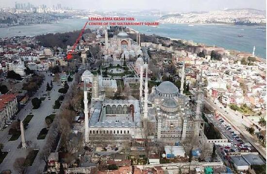 Sultanahmet'teki tarihi han 120 milyon liraya satışa çıkarıldı