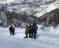 Sobadan zehirlenen aileyi jandarma ekipleri sırtında taşıdı