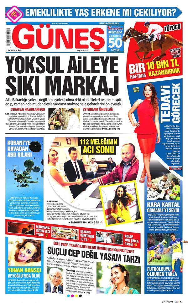 Gazete manşetleri    (21 Ekim 2014) - Son Dakika Flaş Haberler