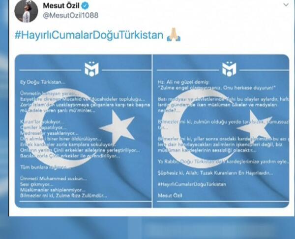 Mesut Özil'in Uygur paylaşımı resimleri ile ilgili görsel sonucu