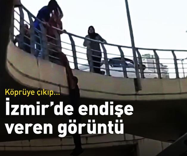 Son dakika: Endişe veren görüntü! Köprüye çıkıp...