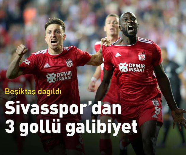 Son dakika: Beşiktaş Sivas'ta dağıldı