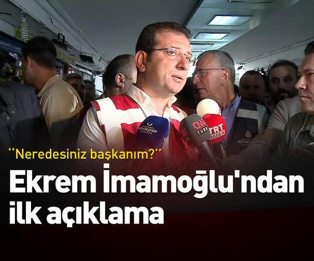 Son dakika: Sel felaketinin ardından Ekrem İmamoğlu'ndan açıklama